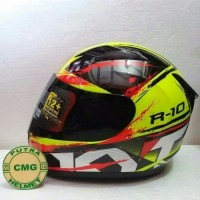 HELM KYT R10 # 2 YELLOW FLUO / BLACK / RED