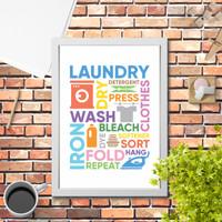 Poster Hiasan Dinding rumah Minimalis laundry 2 dekorasi minimalis