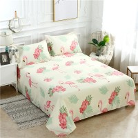 Sarung Bed Cover 2 Sarung Bantal Motif Flamingo Ukuran Queen King
