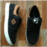 Sepatu casual Vans denim black brown special edition VD3/ Sepatu VANS