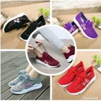 Sepatu Kets Cewek Mess Bordir Bunga 6 warna