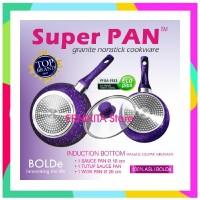 ERNIKITA SUPER PAN BOLDe Purple Set - PANCI GRANITE CERAMIC COOKWARE S