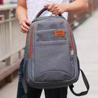 Tas Ransel POLO Import AMC220 Tas Pria/Wanita Backpack Import - Grey