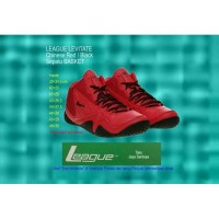 Unik Sepatu Basket LEAGUE LEVITATE Black Red Merah 42 Murah