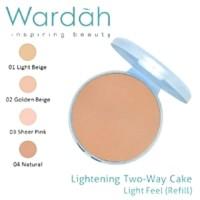 wardah lighteninh two way cake refil 12g