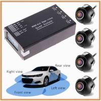 Paket Modul Kamera 360 4 Sisi Quad system plus 4 kamera Pc Cam Depan S