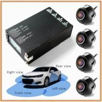 Paket Modul Kamera 360 4 Sisi dan 4 pcs Camera Depan Samping Kiri Kana