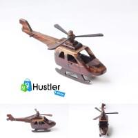 Souvenir Murah Hiasan Miniatur Pajangan Koleksi Helikopter Kayu
