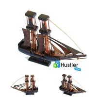 Hiasan Miniatur Pajangan Koleksi Kerajinan Tangan Kapal Layar Kayu