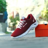 Sepatu Sport Casual Nike Air Zoom - Merah - Running Pria Wanita