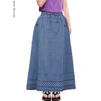 Rok Jeans Anak Rok Panjang Anak perempuan Motif List