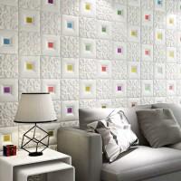 wallpaper dinding sticker foam motif batik anti air wallpaper plafon
