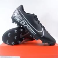 Sepatu Bola Nike Vapor 13 Club FG/MG Black MTLC Grey AT7968-001 Ori