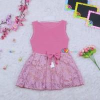 Dress Zevana Uk 1-2 Tahun / Dress Kensi Brukat Gaun Pesta Anak Cewek