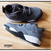 AIR JORDAN 4 Cool Grey TD Toddler Kids Sneaker Original sepatu anak