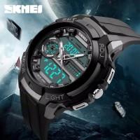 SKMEI 1202 ORIGINAL Jam Tangan Pria SKMEI Digital Analog Dual-Time