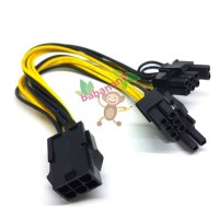 Kabel Power VGA 6 pin female to 2 x 8 Pin male PCIE PCI-E