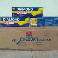 Keju Cheddar Diamond 500gr (Cheese Processed Cheddar)