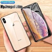 HYDROGEL IPHONE XS MAX ANTI GORES DEPAN BELAKANG FULL COVER