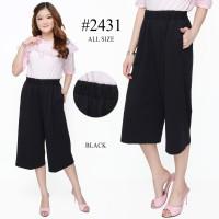 RED ONE Celana Kulot Pendek Stretch Fashion Premium Wanita 2431