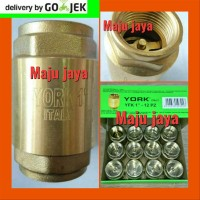 Tusen klep 1 inc YORK Full kuningan Foot Valve Pompa air jet pump Dab