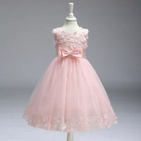 Baju anak perempuan import Dress pesta lace tutu flowers