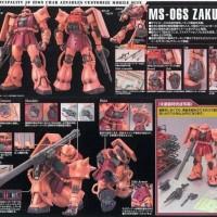 Bandai original MG master grade 1 100 Gundam Zaku II 2 char ver 2.0