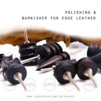 Polishing & Burnisher HEAD SET for edge leather