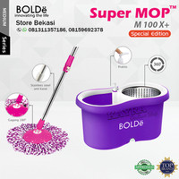 Bolde Super Mop Alat Pel Lantai M100X Otomatis Putar ASLI Original