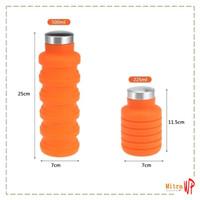 Botol Minum Sport Silicone Portable 550ML - Botol Minum Lipat H-334