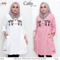 Best Seller Catty Tunik Atasan Wanita Linen Bordir Ori LD108cm busui