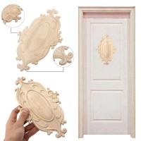 Ornamen Kayu Retro Bentuk Bunga untuk Dekorasi Pintu Furniture