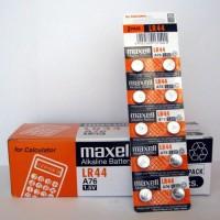 Batere kancing / Button Battery Maxell LR44 Baterai Kalkulator Jam