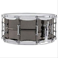 "SNARE DRUM LUDWIG Black Beauty Snare Drum LB417K 6.5 x 14"" Hammered"