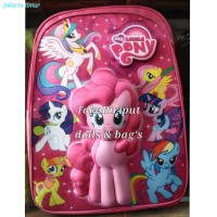 tas ransel gendong sekolah anak Tk Sd 3D timbul kuda poni pony litlle