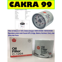 Filter Oli mesin SAKURA C-1204 untuk Suzuki APV Ertiga Baleno Karimun