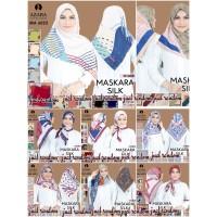Jilbab Segi Empat Silk Satin Motif AZARA seri : RANDOM