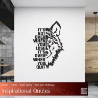Sticker Dinding Motivasi Quote Stiker Cutting Kaca Kantor quotes