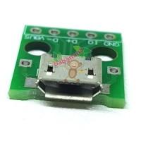 Micro USB Type-B Female Connector Jacks Socket PCB Mount Board