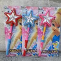 Jual Mainan stik tongkat barbie peri bisa nyala bunyi magic sound