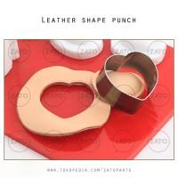 HEART Leather shape punch - pisau pon hati - leather tools