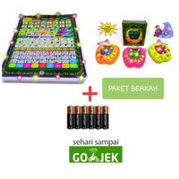 Paket Playpad Muslim + Apple Rekam 7 Tombol + Baterai (Bisa GOJEK)
