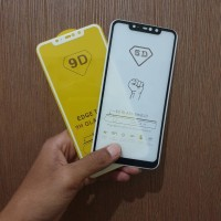 Tempered Glass Full Cover Xiaomi Redmi Note 6 Pro Hitam Putih