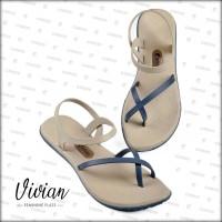 [Official] Sandal Camou Wanita VIVIAN Calmy Blue
