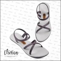 Sandal / Sendal Wanita Vivian Milk Chocolate