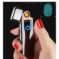Korek api elektrik finger print touch sensor usb charging lighter