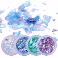 Nail Glitter Resin Glitter 1 Set 4 pcs