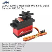 JX PDI-6209MG Metal Gear 9Kg 4.8-6 V Inti Motor Servo Digital utk 1/10