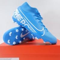 Sepatu Bola Nike Superfly 7 Club FG/MG Blue White AT7949-414 Original