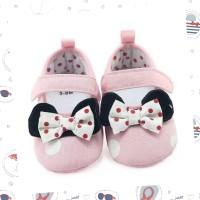 Prewalker Baby Girl Flat Shoes Polkadot Pita Pink - Sepatu Bayi